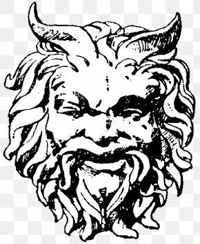 Mask - Satyr Greek Mythology Mask Maenad Theatre Of Ancient Greece PNG