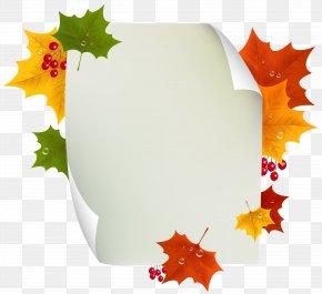 Autumn Blank Page Decor Clipart Image - Autumn Clip Art PNG