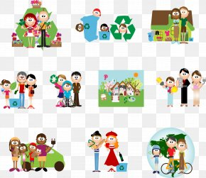 Vector Cartoon Character Family Collection - Everyday People Cartoons Character PNG