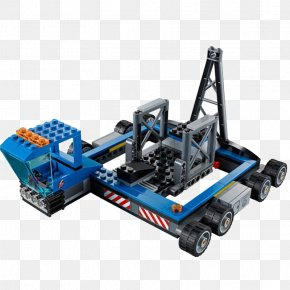 Lego Toy Crane Machine - Lego City Toy Block Spaceport Space Shuttle PNG
