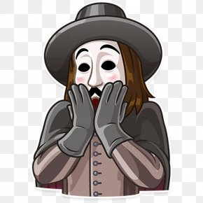 Spanish Nobleman - Sticker Telegram Guy Fawkes Mask Decal Adhesive PNG