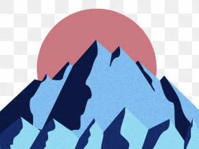 Snow Mountain Sunrise - Cartoon Sunrise Snow PNG