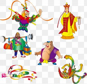 Vector Cartoon Various Journey To The West - Monkey: Journey To The West Sun Wukong Westward Journey Online II PNG