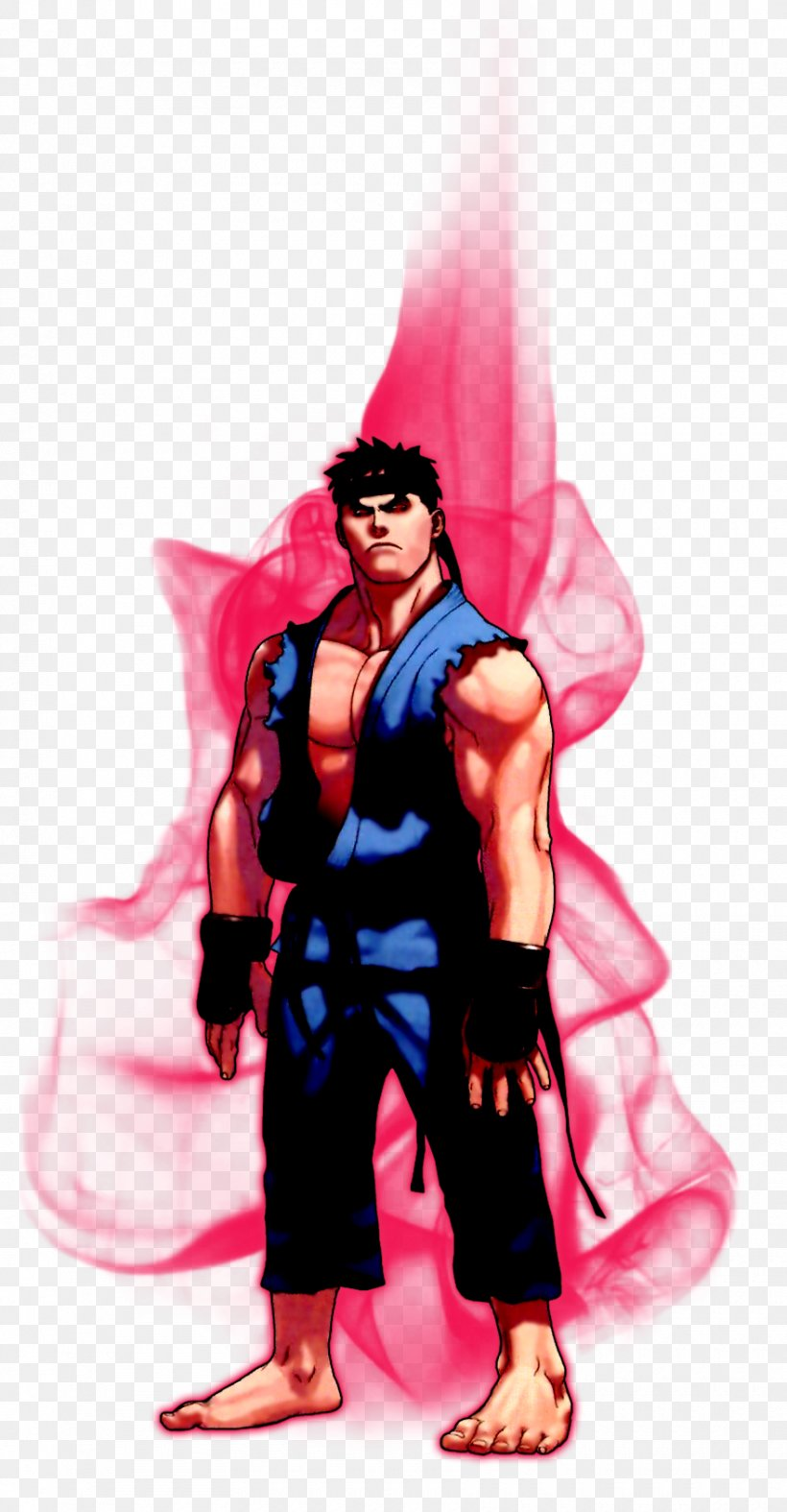 Evil Ryu Super Street Fighter Iv Png 880x1691px 2d