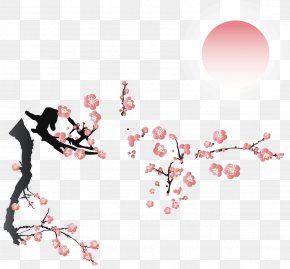 Winter Snow Plum Vector Material - Plum Blossom PNG
