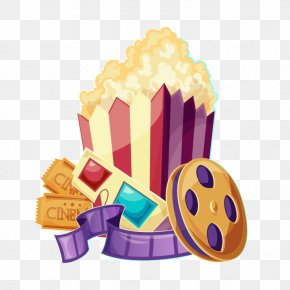 Popcorn Clip Art Movie - Film Clip Art Popcorn Cinema PNG
