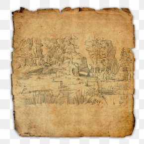 The Elder Scrolls - The Elder Scrolls Online The Elder Scrolls V: Skyrim Treasure Map PNG