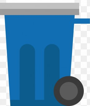 Blue Trash Can - Graphic Design Brand Pattern PNG