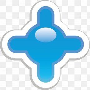 Hand Painted Blue Ball Sticker - Paper Blue Sticker Clip Art PNG