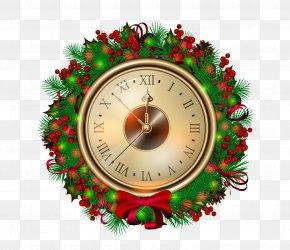 Vector Christmas Watch - Santa Claus Christmas Clock New Year Clip Art PNG