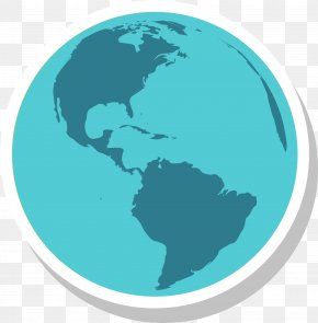 Blue Planet - United States South America Europe Spanish Colonization Of The Americas Orthographic Projection PNG