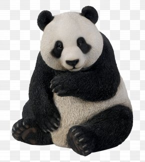 Giant Panda - Giant Panda Bear Garden Ornament Table Art PNG