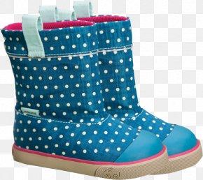 Boot - Polka Dot Snow Boot Shoe Walking PNG