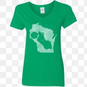 T-shirt - T-shirt Hoodie Neckline Sleeve Gildan Activewear PNG