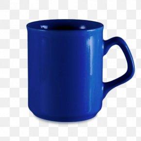 Mug - Mug Coffee Cup Tableware Blue Ceramic PNG