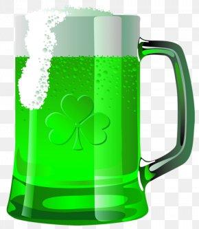 Green Beer Mug - Beer Bottle Saint Patricks Day Clip Art PNG