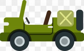 Green Military Car - Car Automotive Design Military Vehicle Illustration PNG