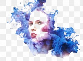 Blue Water Mist Beautiful Illustration - Adobe Systems Photography Software PNG