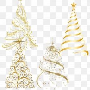 Creative Simple Golden Christmas Tree - Christmas Tree Christmas Ornament Candle PNG