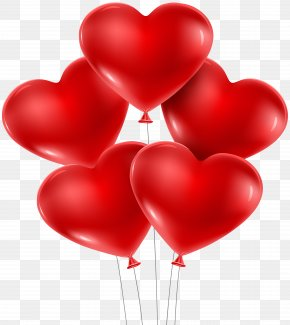 Heart Balloons PNG Clip Art Image - Heart Shape Valentine's Day Balloon PNG