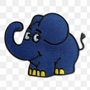Elefant - Indian Elephant Elephantidae WDR Fernsehen Embroidered Patch Children's Song PNG