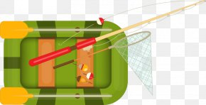 Abstract Green Boat Fishing Rod Mesh Pattern - Fishing Rod Fishing Net Euclidean Vector PNG