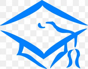 Blue Graduation Cap - Square Academic Cap Graduation Ceremony Clip Art PNG