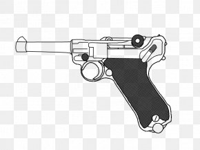 Weapon - Trigger Luger Pistol Browning Hi-Power Firearm Drawing PNG