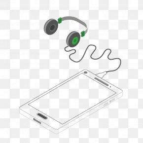 Linear Phone With Headset - Audio Equipment Headphones Headset PNG