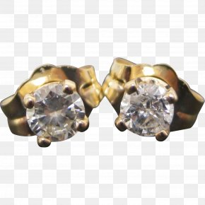 Gold - Earring Colored Gold Carat Diamond PNG