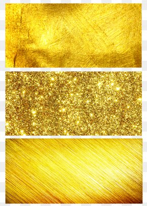 Three Kinds Of Gold Background - Gold Yellow PNG