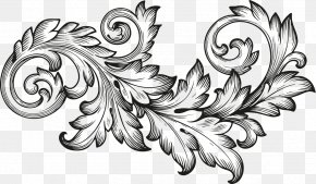 Baroque - Ornament Scroll Engraving Acanthus PNG