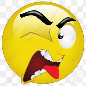 Disgusted Face Emoticon - Smiley Emoticon Clip Art PNG