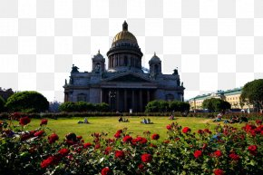 Russian Landscape Two - Saint Isaacs Cathedral Church Of The Savior On Blood Fukei Wallpaper PNG