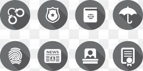Police Supplies - Lawyer Police Officer Icon PNG