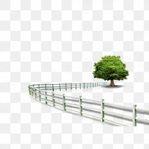 Fence Roadside Trees - Shapes FREE Android PNG