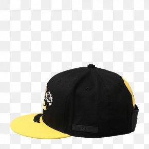 Cute Black And Yellow Baseball Cap - Baseball Cap Black Yellow PNG