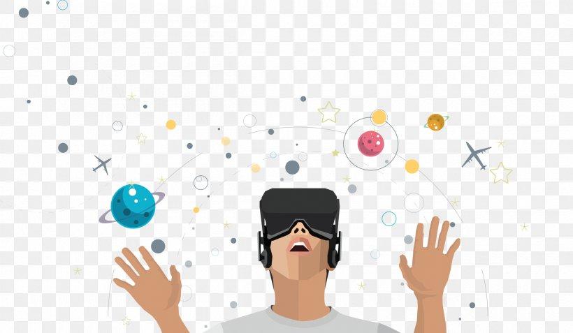 Oculus Rift HTC Vive PlayStation VR Virtual Reality Headset, PNG, 2400x1398px, Oculus Rift, Art, Cartoon, Communication, Computer Download Free