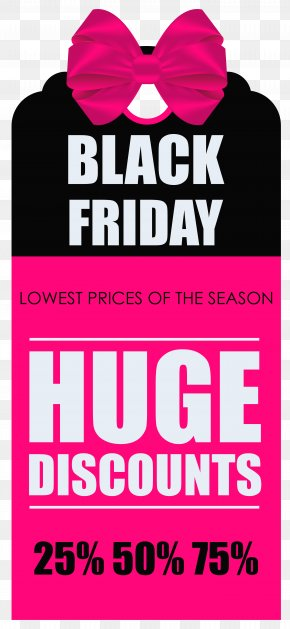 Black Friday Huge Discounts Tag Clipart Picture - Black Friday Banner Icon PNG