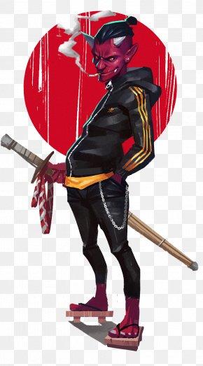 Dark Demon Ninja - Ninja Poster Illustration PNG