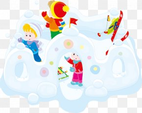 Snowman Children - Snow Fort Child Clip Art PNG