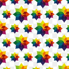 Vector Colorful Flower Pattern - Flower Euclidean Vector Adobe Illustrator Illustration PNG