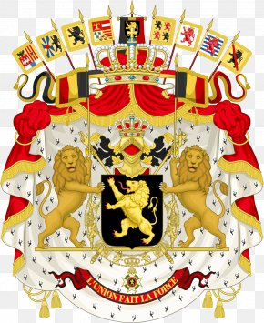 Crest - Coat Of Arms Of Belgium Flag Of Belgium National Coat Of Arms PNG