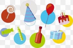 Vector Happy Birthday - Birthday Cake Euclidean Vector Clip Art PNG