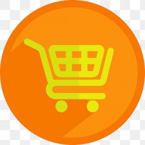 Yellow Circle Icon Shopping Cart - Shopping Cart Icon PNG