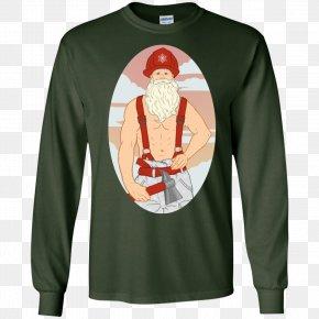 Firefighter Tshirt - T-shirt Christmas Jumper Hoodie Sweater PNG