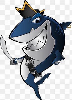 Dark Blue Cartoon Shark - Shark Piracy Royalty-free Clip Art PNG