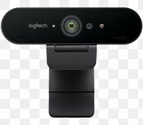 Webcam - Logitech BRIO 4K Ultra HD Webcam Ultra-high-definition Television 4K Resolution Camera PNG