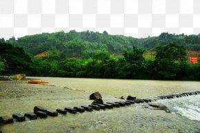 Fujian Knot Town Three - Fujian Landscape Download PNG