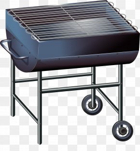 Blue BBQ Grill - Barbecue Barbacoa Euclidean Vector Illustration PNG